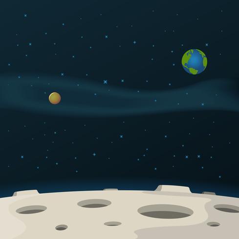 Surface de la lune vecteur