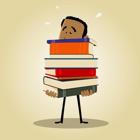 Bibliothécaire Occupé vecteur