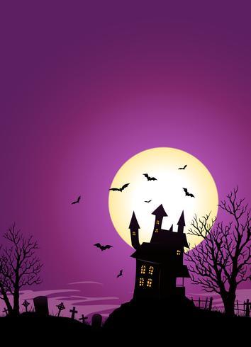 Château d'Halloween vecteur