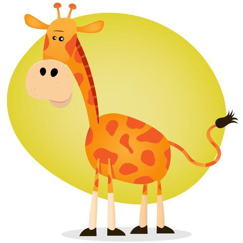 Girafe de dessin animé mignon vecteur
