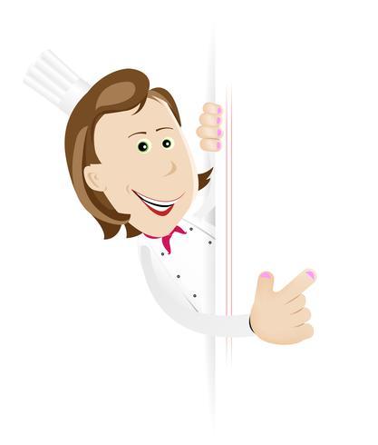 Chef cuisinier femme avec signe vierge vecteur