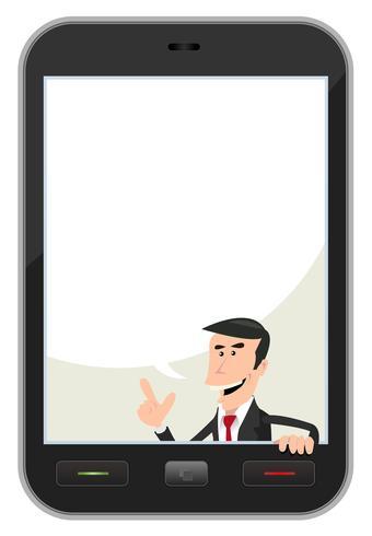 Bulle de dialogue smartphone vecteur