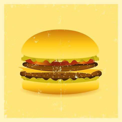 Hamburger Grunge vecteur
