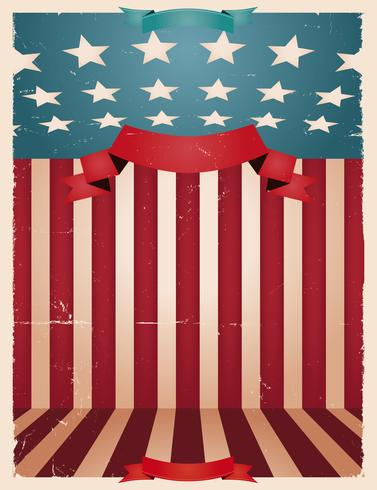 4 juillet - fond américain vecteur