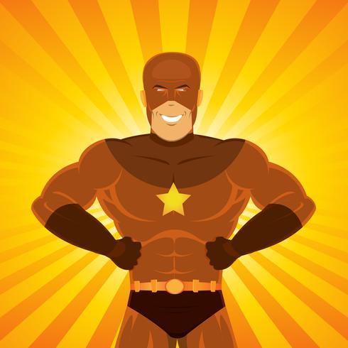 Super-héros de bande dessinée vecteur