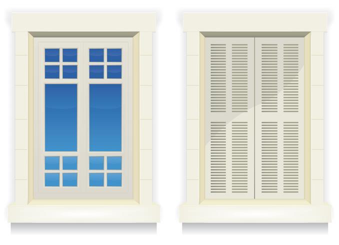 Fenêtre d'accueil - Réveillez-vous et dormez vecteur