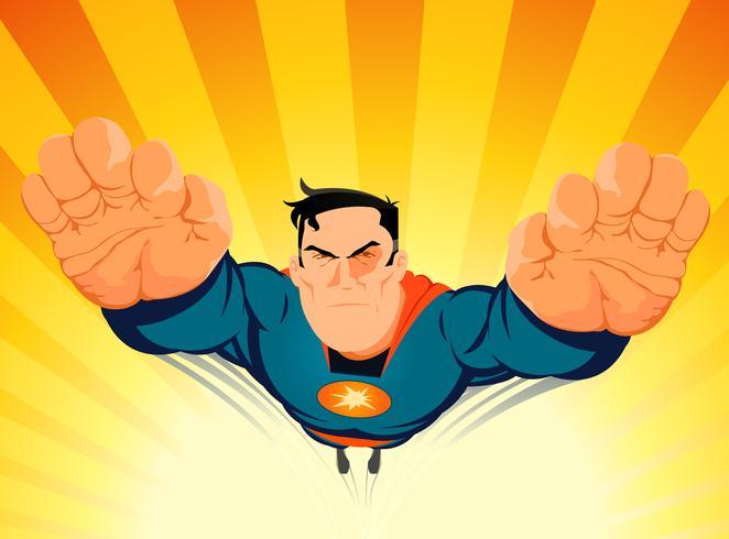 Le super-héros qui décolle vecteur