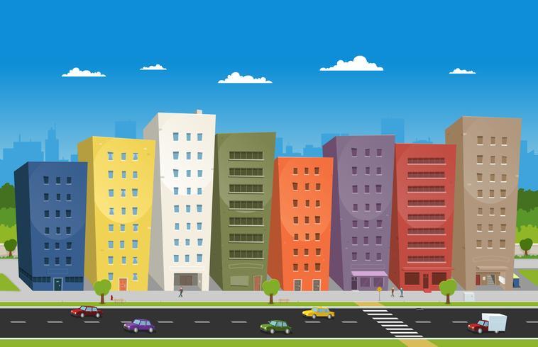 Paysage urbain vecteur