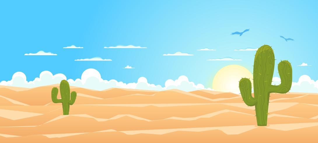Dessin animé large désert vecteur