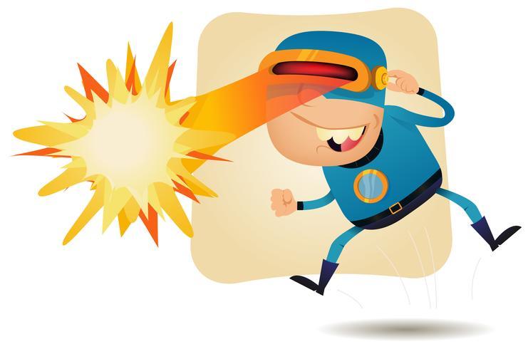 Tête à rayon laser - Super héros de la bande dessinée vecteur