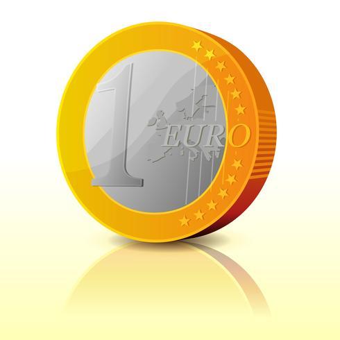 dessin animé simple pièce euro vecteur