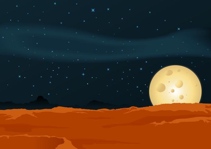 Paysage du désert lunaire vecteur