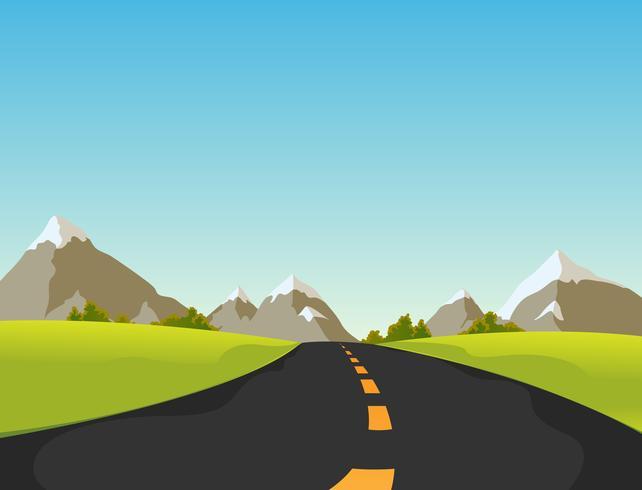 Route de montagne vecteur
