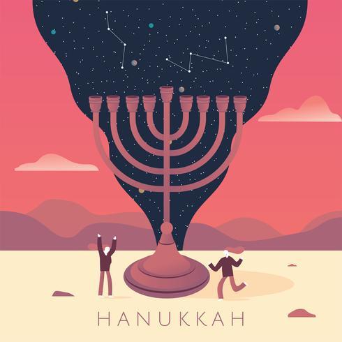 Conception de vecteur Hanukkah