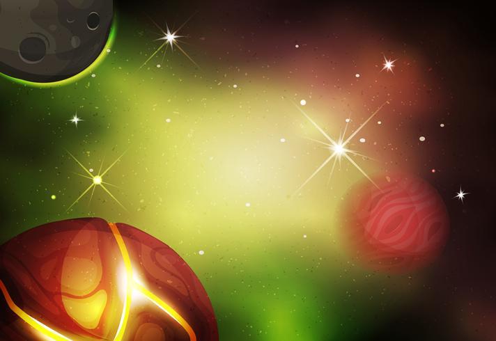 Scifi Space Background pour le jeu de l'interface utilisateur vecteur