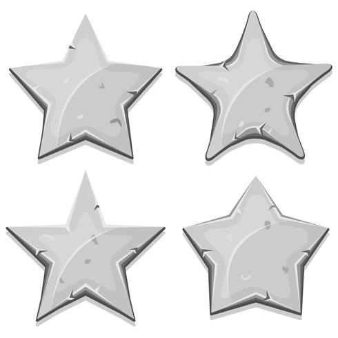 Étoiles de pierre pour le jeu de l'interface utilisateur vecteur