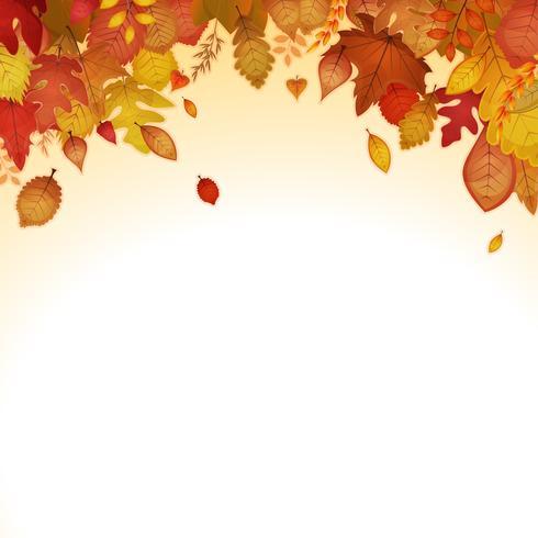 Fond de feuilles d'automne vecteur