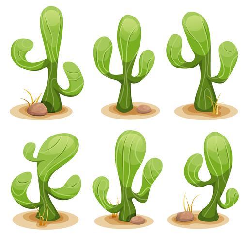 Ensemble de cactus mexicain vecteur