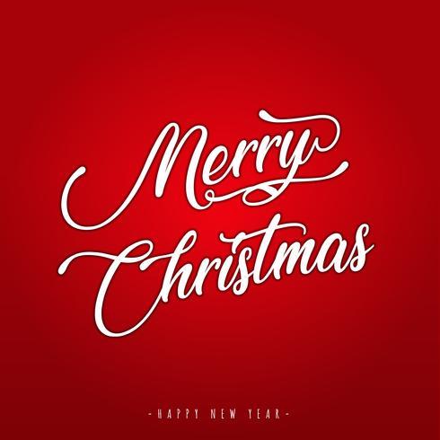 Joyeux Noël lettrage carte de voeux vecteur