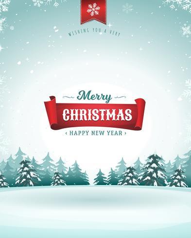 Joyeux Noël Carte De Vœux vecteur