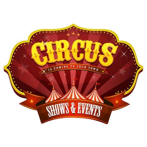 Bannière Carnival Circus Avec Big Top vecteur