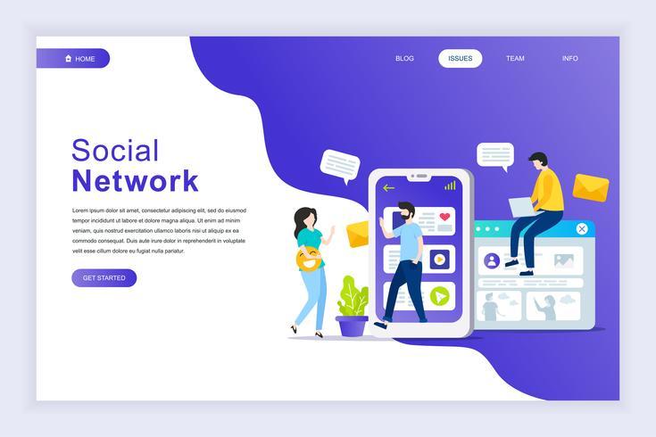 Bannière de réseau social vecteur
