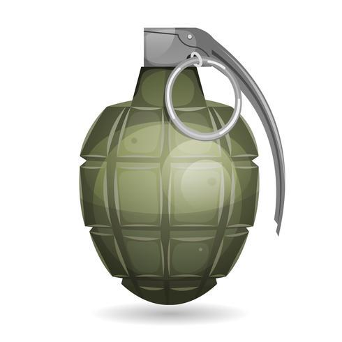 Grenade militaire vecteur