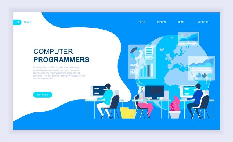 Bannière Web pour programmeurs vecteur
