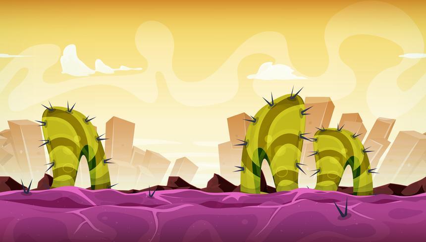Paysage extraterrestre sans couture et fantastique pour le jeu Ui vecteur