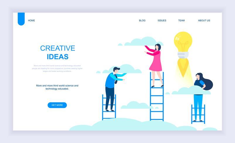 Idée créative Bannière Web vecteur