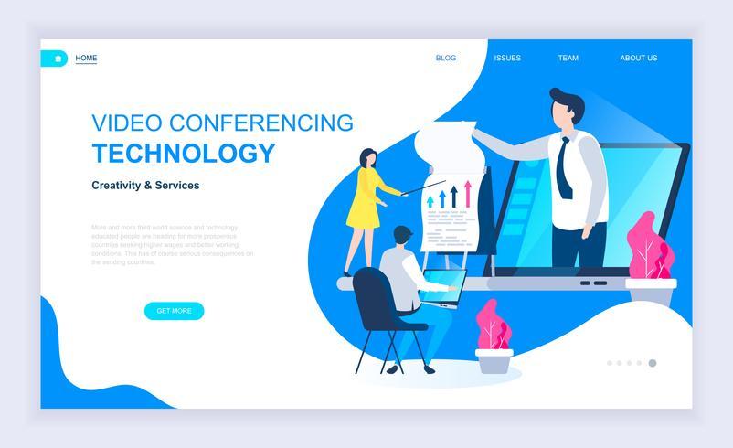 Bannière Web de vidéoconférence vecteur