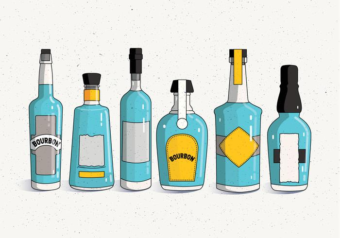 Vecteur de bouteille de bourbon