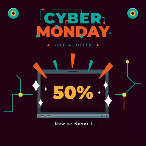 Vecteur cyber lundi