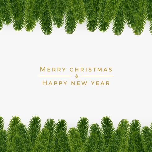 Fond de sapin de Noël, look réaliste, design de vacances vecteur