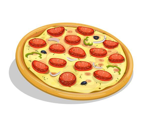 Pizza au pepperoni vecteur