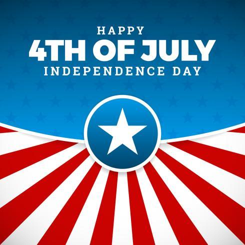 Jour de l'indépendance, vacances aux Etats-Unis d'Amérique, vecteur