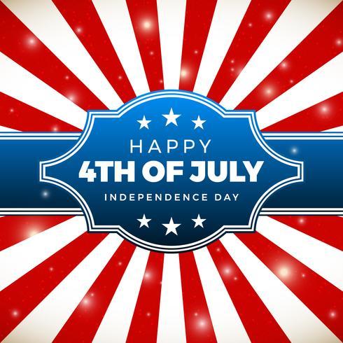 Conception du jour de l'indépendance. Vacances aux Etats-Unis d'Amérique vecteur