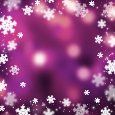 Flocons de neige noël abstarct fond, illustration vecteur