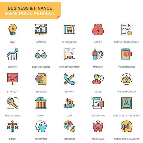 Affaires et finances Icon et vecteur