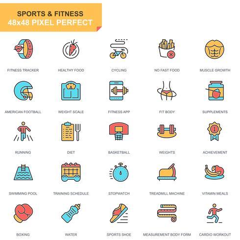 Sports et Fitness Icon Set vecteur