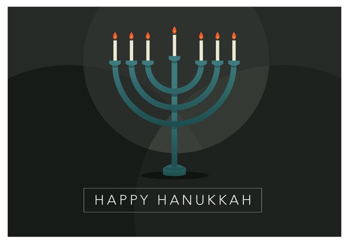 Bonne bougie Hanukkah vecteur
