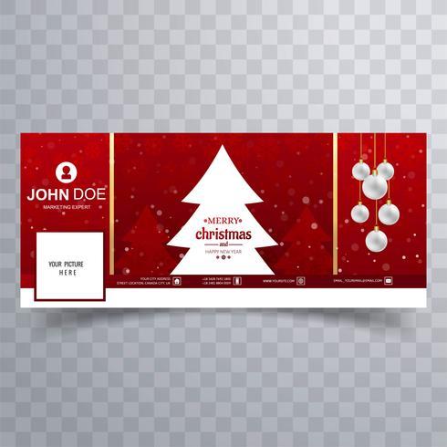 Joyeuse boule de Noël avec un modèle de bannière facebook vecteur