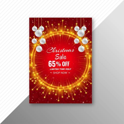 Conception de modèle de brochure de vente de Noël vecteur