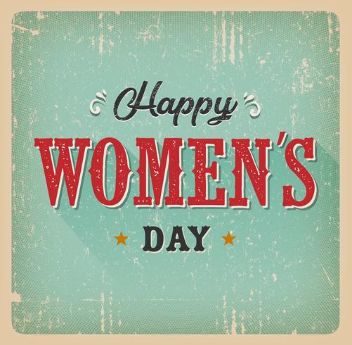 Carte du jour des femmes heureux vecteur