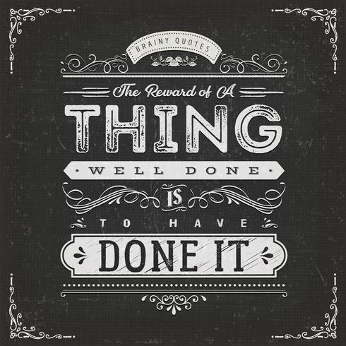 La récompense d'une citation de motivation bien faite vecteur