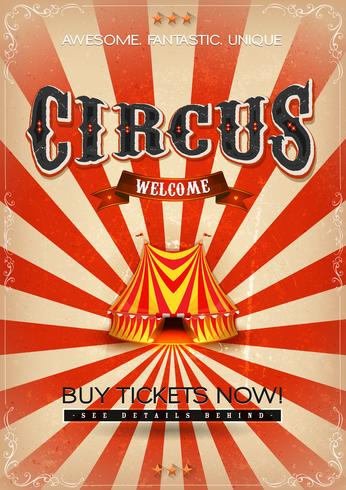 Affiche Vintage Circus vecteur