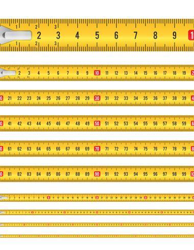 Ruban à mesurer sans soudure vecteur