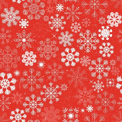 Fond de flocons de neige de Noël sans soudure vecteur