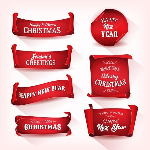 Collection de parchemins de Noël vecteur