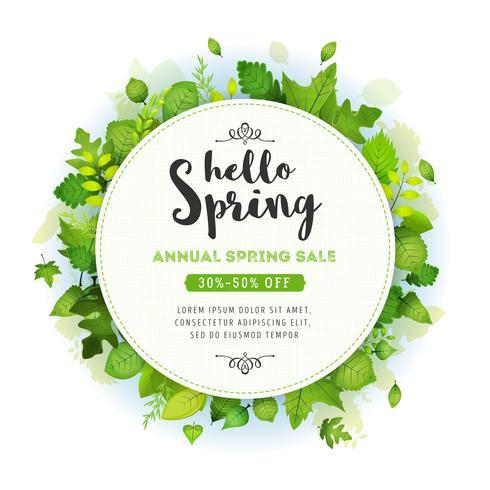 Contexte de la vente annuelle de printemps vecteur